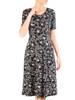 Sukienka z dzianiny, rozkloszowana kreacja damska 29585