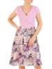 Sukienka z modnym kołnierzem, kreacja z szyfonowymi dołem 30027