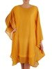 Sukienka z szyfonu, nowoczesna kreacja w fasonie maskującym brzuch 22727