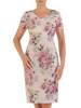Sukienka z tkaniny, prosta kreacja w oryginalnym wzorze 26396