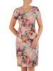 Sukienka z tkaniny, prosta kreacja w oryginalnym wzorze 26490