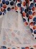 Sukienka z tkaniny, rozkloszowana kreacja w kolorowe grochy 25033