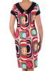 Sukienka z tkaniny, wiosenna kreacja w geometrycznym wzorze 20291.