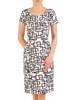 Sukienka z tkaniny, wiosenna kreacja w oryginalnym wzorze 29605