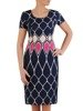 Sukienka z tkaniny, wiosenna kreacja w wyszczuplającym wzorze 25656
