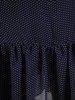 Szyfonowa sukienka o trapezowym kroju, kreacja w granatowym kolorze 25265