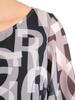 Szyfonowa, zwiewna bluzka z ozdobnymi rękawami 31208