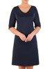 Trapezowa sukienka z kieszeniami, kreacja z połyskiem 22651