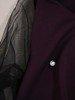 Trapezowa sukienka z tiulowymi rękawami 24137