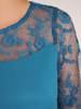 Warstwowa sukienka z szyfonu, kreacja z koronkowym karczkiem 30472