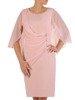 Wieczorowa pudrowa sukienka z ozdobnym przodem 25999