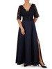 Wieczorowa sukienka o długości maxi, kreacja z koronkowym topem 22624