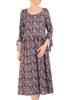 Wizytowa sukienka damska, kreacja w luźnym fasonie 29918