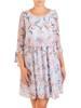 Wizytowa sukienka damska, kreacja w luźnym fasonie 30186