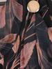 Wizytowa sukienka w jesienny wzór z ozdobną, szyfonową wstawką 30631