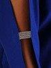 Wizytowa sukienka z kieszeniami, kreacja z ozdobnymi rękawami 22803