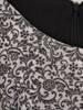Wyszczuplająca sukienka, kreacja z kontrastową wstawką 27429