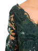 Zielona suknia maxi, wieczorowa kreacja zdobiona cekinami 30586