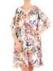 Zwiewna sukienka damska, kreacja z ozdobnie wyciętymi rękawami 29613