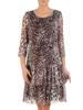 Zwiewna sukienka w panterkę z falbanami 28394